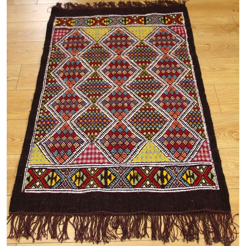 Mergoum Handmade Wool Tunisian Rug